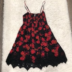 Free People Spaghetti Strapped Smocked Dress
